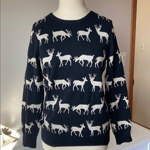 Black and Gold Deer Forever 21 Sweater